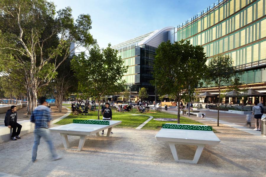 Darling quarter urban design for Aspect landscape
