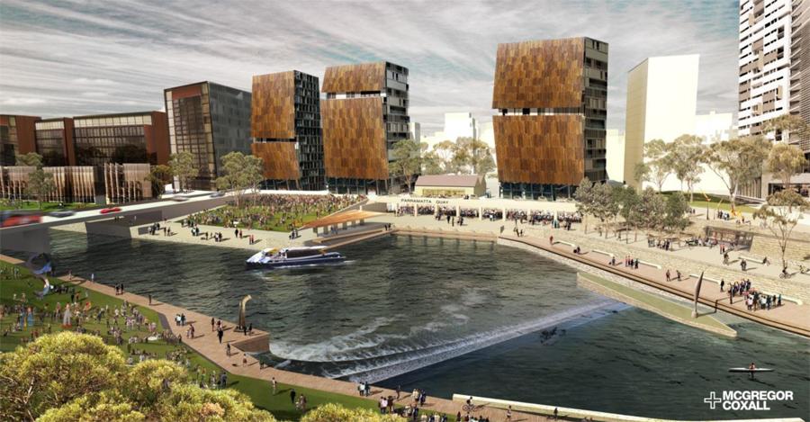 parramatta river urban strategy project regeneration case projects cbd mcgregor coxall urbandesign studies sydney description